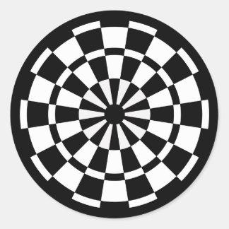 Mod Dartboard Round Sticker