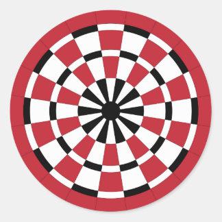 Mod Dartboard Round Stickers