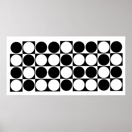 Mod Dots Black & White Designer Print