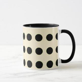 "'Mod Dot's "" Cream.blk Travel Mug(s) Mug"