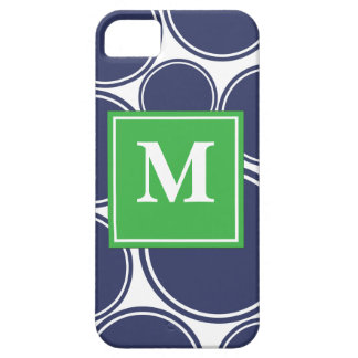 Mod Dots in Navy iPhone 5 Cases