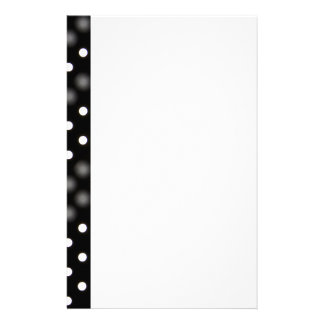 Mod Dots on Black Personalized Stationery