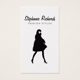 Mod Fashion Stylist, Boutique Gold Business Card