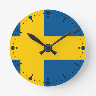 Mod Flag of Sweden Wall Clock