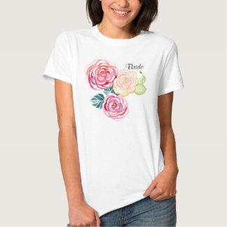 Mod Floral Roses Modern Art Flower Weddings Tshirts
