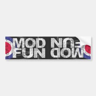 MOD FUN dual bumper stkr Car Bumper Sticker