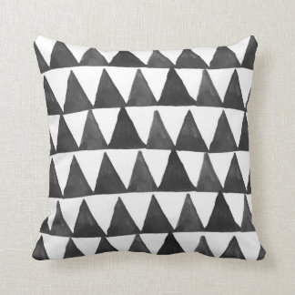 Mod Geometric Triangles Throw Pillow