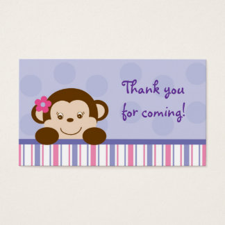 Mod Girl Monkey Monkey Party Favour Gift Tags