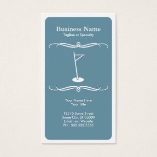 mod golf business card