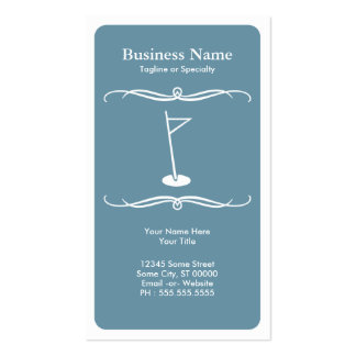 mod golf pack of standard business cards