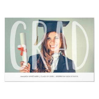 Mod Grad Letters Photo Graduation Announcement