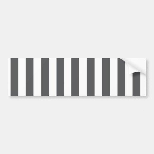 Mod Gray Stripes Pattern Bumper Sticker