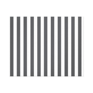 Mod Gray Stripes Pattern Canvas Prints