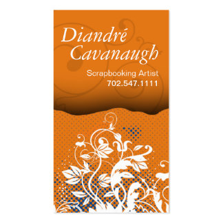 Mod Grunge Floral Scrapbooking Artist template Pack Of Standard Business Cards