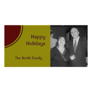 Mod Happy Holidays Photo Card Template