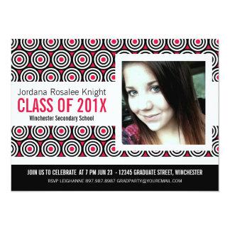 Mod Hot Pink Girl Graduation 14 Cm X 19 Cm Invitation Card