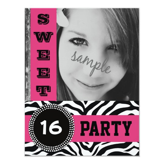 Mod Hot Pink Zebra Sweet 16 Party with