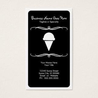 mod ice cream business card