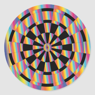 Mod Iridescent Dartboard Round Sticker