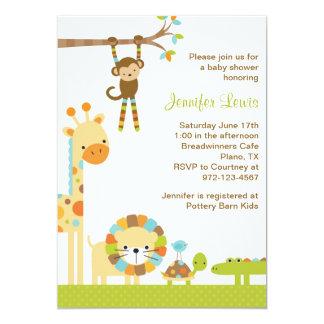 Mod Jungle Safari Baby Shower Invitation