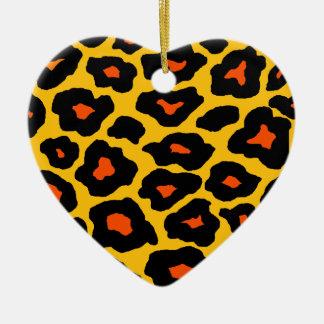 Mod Leopard Christmas Ornament