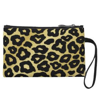 Mod Leopard Print Wristlet