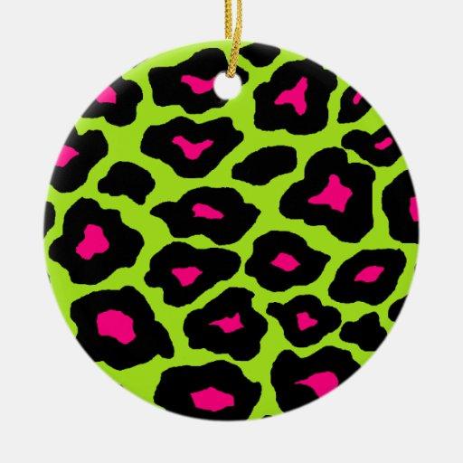 Mod Leopard Round Ceramic Decoration