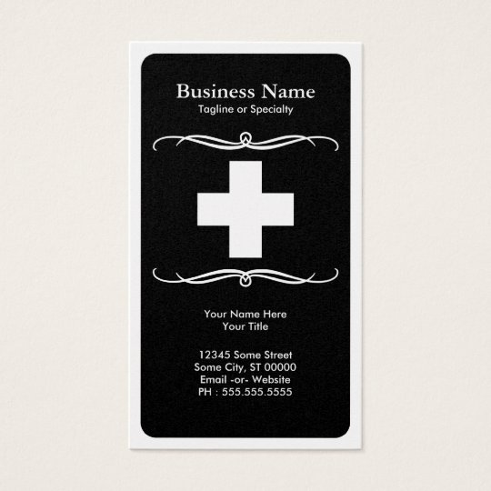mod medical cross business card