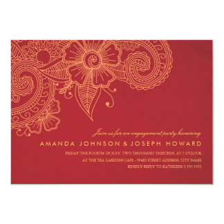 Mod Mehandi Engagement Party Invite