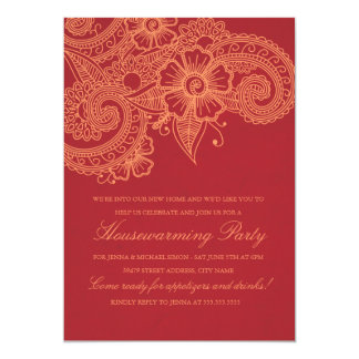 Mod Mehandi Housewarming Party Invitation