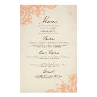 Mod Mehandi Wedding Dinner Menu