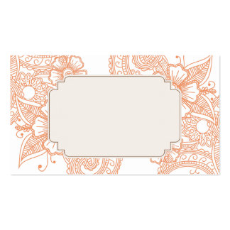 Mod Mehandi Wedding Escort Cards Pack Of Standard Business Cards
