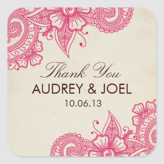 Mod Mehandi Wedding Favor Stickers