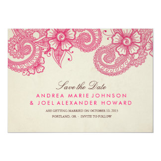 Mod Mehandi Wedding Save the Date Card