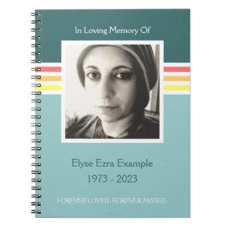 mod memorial guest book notebooks