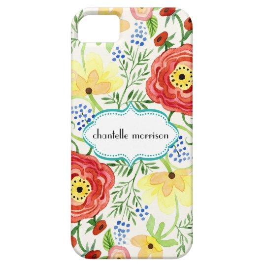 Mod Modern Floral Ranunculus Leaf Rose Bracket iPhone 5 Covers