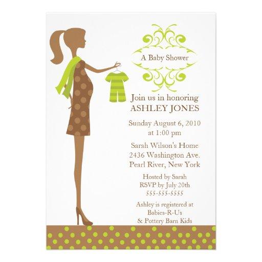 Mod Mom Boy/Girl Baby Shower Custom Invitation