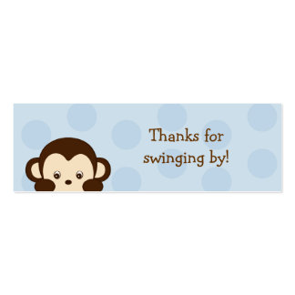 Mod Monkey Blue Party Favor Gift Tags Business Card Templates