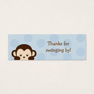 Mod Monkey Blue Party Favor Gift Tags Mini Business Card