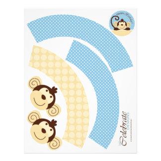 Mod Monkey Cupcake Wrapper 21.5 Cm X 28 Cm Flyer