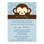 Mod Monkey Dot Custom Baby Shower Invitations
