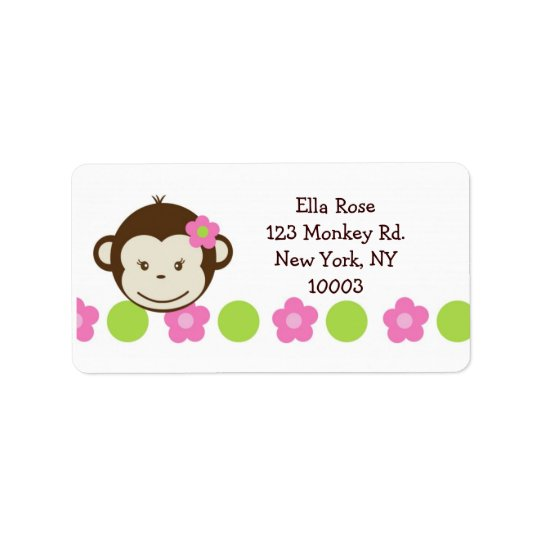 Mod Monkey Girl address labels