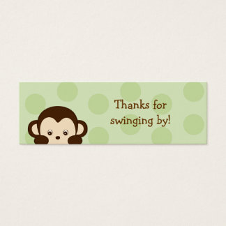Mod Monkey Green Party Favor Gift Tags