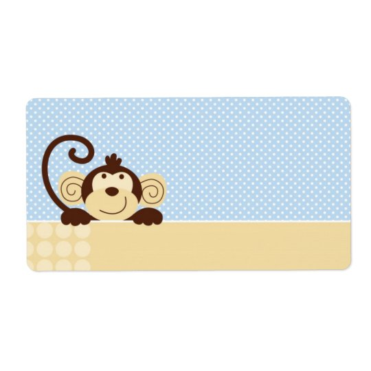 Mod Monkey Name Tag Shipping Label