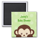 Mod Monkey Polka Dots Baby Shower Favour Magnets