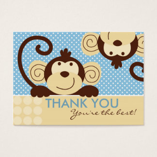 Mod Monkey TY Gift Tag Business Card