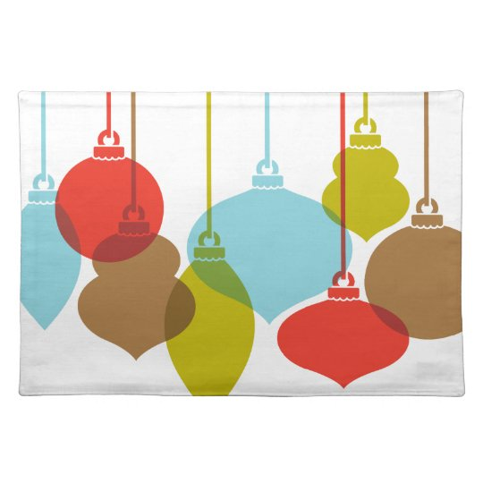 Mod Ornaments Retro Christmas Placemat