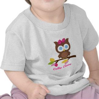 Mod Owl Design Birthday Party Invitation Favors T-shirt