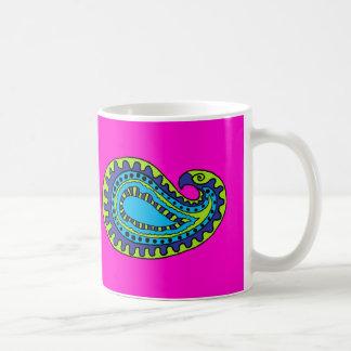 Mod Paisley Basic White Mug