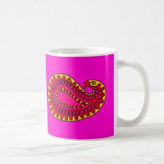 Mod Paisley Classic White Coffee Mug